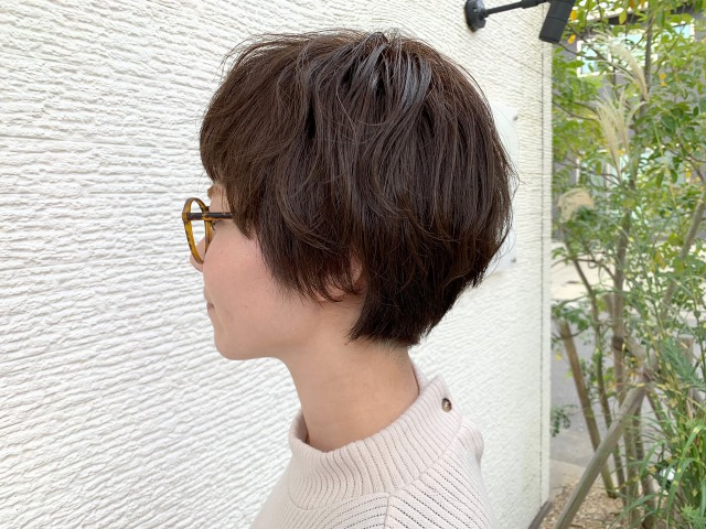 【長尾】ショート×グレージュカラー☆☆